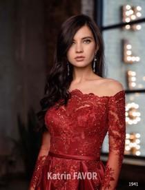 wedding photo - Lace Dress Red Dress Long Sleeve Dress Off Shoulder Dress Alternative Wedding Dress Wedding Guest Dress Prom Dress Long Plus Size Maxi 2020