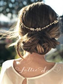 """wedding photo - Crystal wire boho hair vine wedding accessory comb, with marquise crystals in gold, silver or rose gold, """"AVERY"""""""
