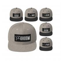 wedding photo - Groom Squad Hat, Snapback, Custom Embroidery, Cap, Bachelor Party, Bachelor Trip, Bachelor Gift, Groomsmen Gift, Best Man Gift, Wedding