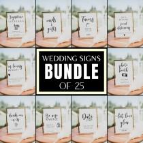 wedding photo - Wedding Signs Bundle, 25 SIGNS BUNDLE, Wedding Table Signs, Wedding Decor, Signature Cocktail Sign, Covid Wedding, Cards and Gifts Sign, BL1