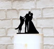wedding photo - German Shepherd Wedding Cake Topper