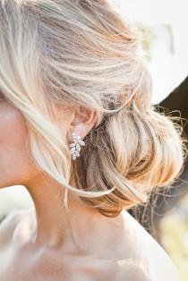 wedding photo - Swarovski Crystal Earrings Bridal Earrings Drop Wedding Earrings Bridal Jewelry set Bridesmaids Earrings  Crystal Drop Earrings