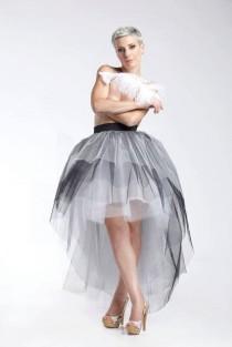 wedding photo - Long Tulle Skirt, Women Skirt, Wedding Skirt, Midi Skirt, Bridesmaid Skirt, Prom Skirt, Fashion Skirt, Asymmetrical Skirt, Formal Skirt