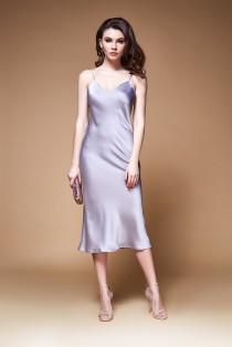 wedding photo - Silk slip midi dress - Wedding guest bias cut dress - Homecoming dress - Blue slip dress - Burgundy dress - Engagement dress - Pink dress