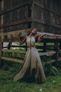 wedding photo - New! Boho Dresses for Women • Boho Bridesmaid Dress • Bohemian Dress • Open Waistline Dress • Green Maxi Adjustable Dress • Summer Dress