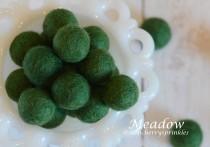 wedding photo - MEADOW 1cm -2cm 100% Wool Felt Balls -Felt Pom Pom *Green wool balls, DIY Pom Pom Garland - DIY Felt Ball Garland * Wool Balls *Mantel Decor