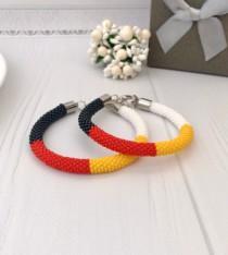 wedding photo - Native Medicine Wheel Bracelet American beaded bracelet Ethnic jewelry Crochet seed beads bracelet Boho style Men's bracelet Unisex jewelry