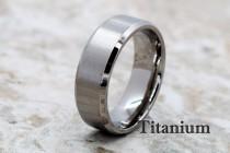 wedding photo - Titanium Ring, Titanium Band, Titanium Wedding Band, Men's Wedding Ring, Men's Ring, Titanium Wedding Ring, Personalized Ring, Titanium