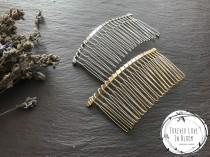 wedding photo - Large Silver Hair Combs (20 Teethes) Wire Hair Combs for Wedding or Tiara Making Base