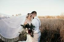 wedding photo - Boho Wedding Veil, Soft English Net Veil Champagne Ivory White Blush