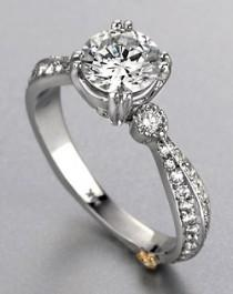 wedding photo - Vintage Style  Engagement Ring