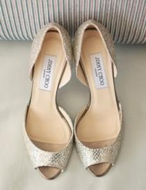 wedding photo - Chaussures de noces d'argent scintillante ♥ Jimmy Choo Chaussures de mariée Collection