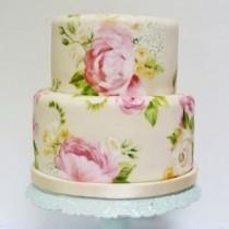 wedding photo - Handgemalte Wedding Cakes ♥ Hochzeitstorte Design