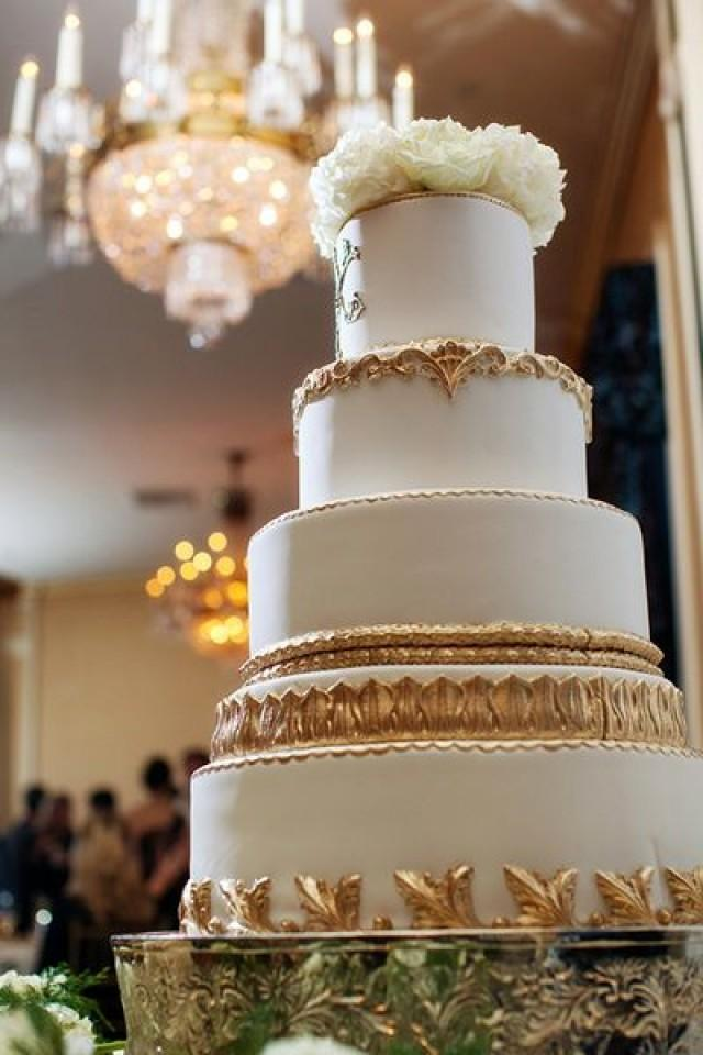 gold wedding cakes pictures ivory wedding gold cake 2052966 weddbook 14821