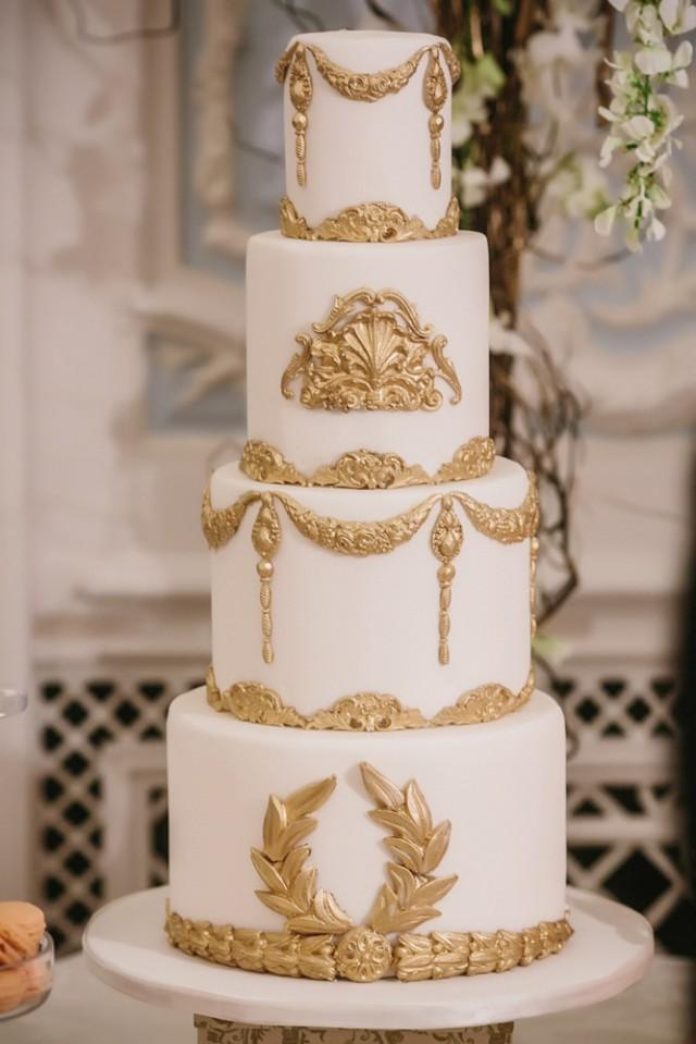 white and gold wedding cake ideas baroque wedding white and gold baroque wedding cake 27205