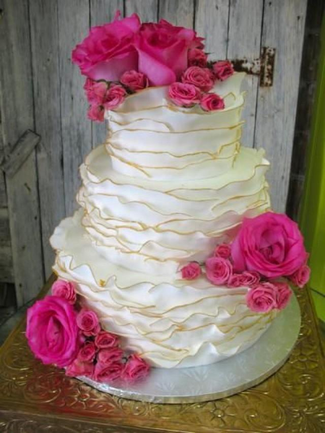 hot pink wedding cake ideas wedding cakes pink wedding 2098063 weddbook 15341