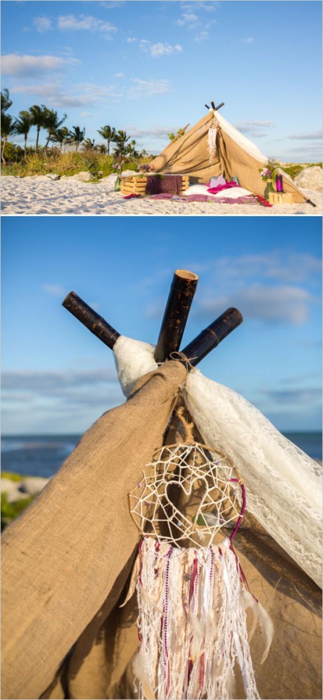 Boho Chic Beach Wedding - Weddbook