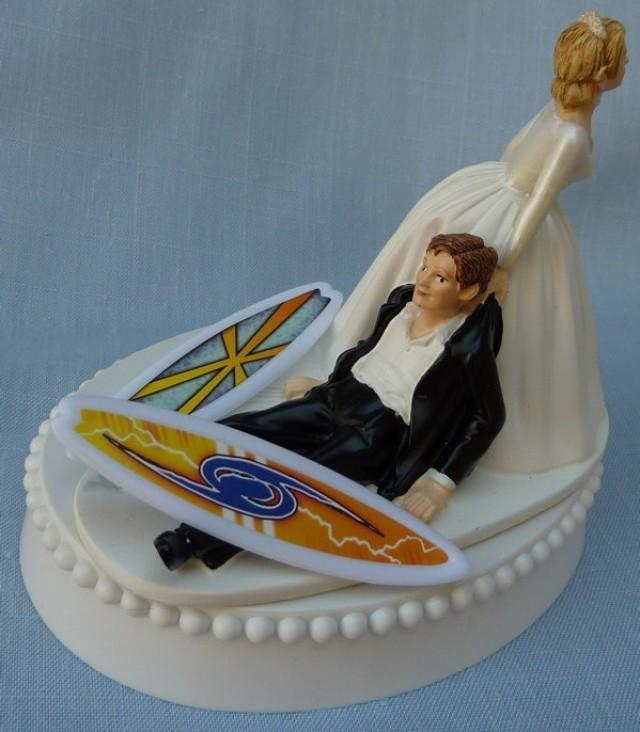 surfer wedding cake topper wedding cake topper surfing surfboard surfer groom themed 20657