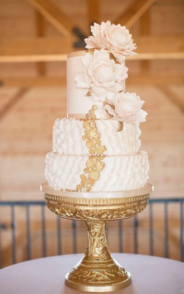 wedding cakes gold and white gold wedding white amp gold wedding cakes 2176694 weddbook 24440
