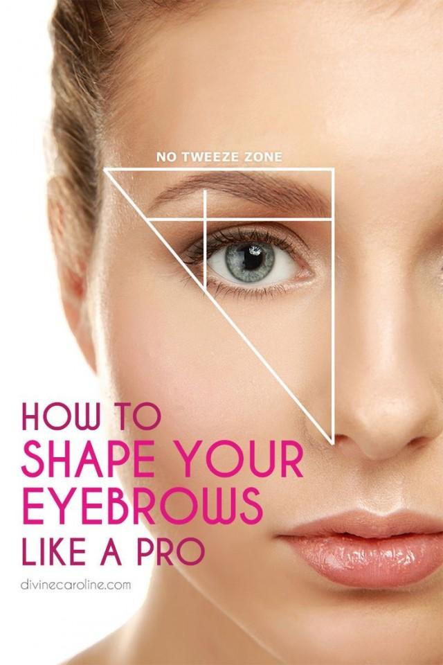 Makeup - How To Shape Your Eyebrows Like A Pro #2192408 ...