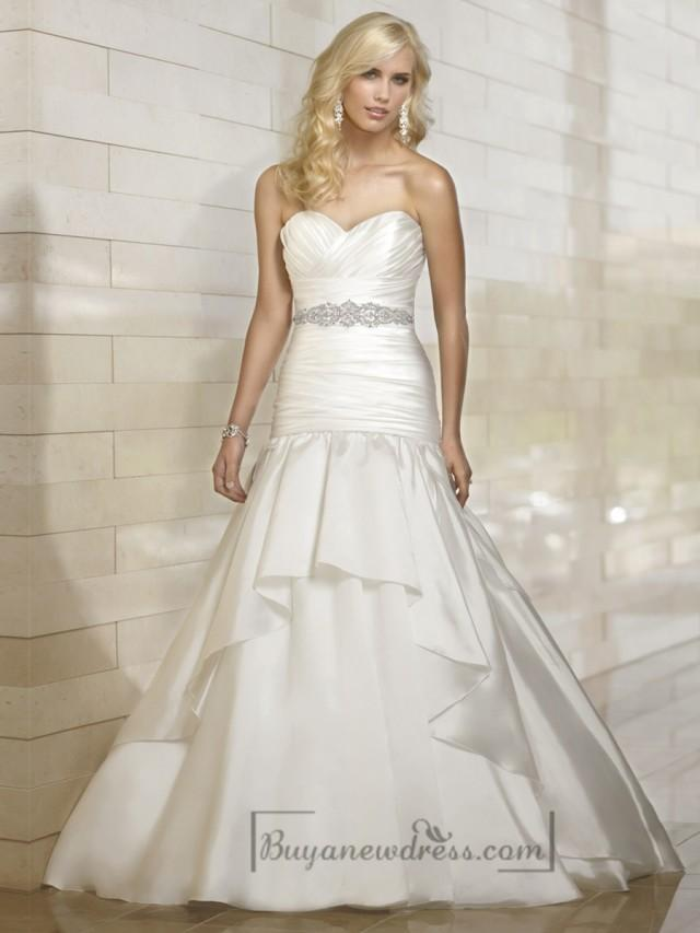 tiered wedding dress organza fit and flare cross sweetheart pleated wedding 7997