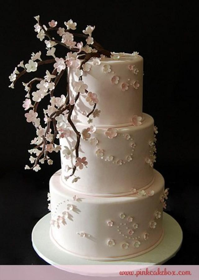 baby pink wedding cake baby pink cherry blossom cake 187 wedding cakes 11001