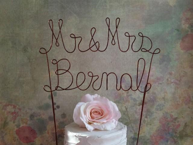 custom last name wedding cake toppers personalized mr amp mrs last name cake topper banner 13213