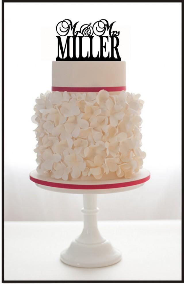 personalized last name wedding cake toppers personalized mr and mrs custom wedding cake topper with 18266