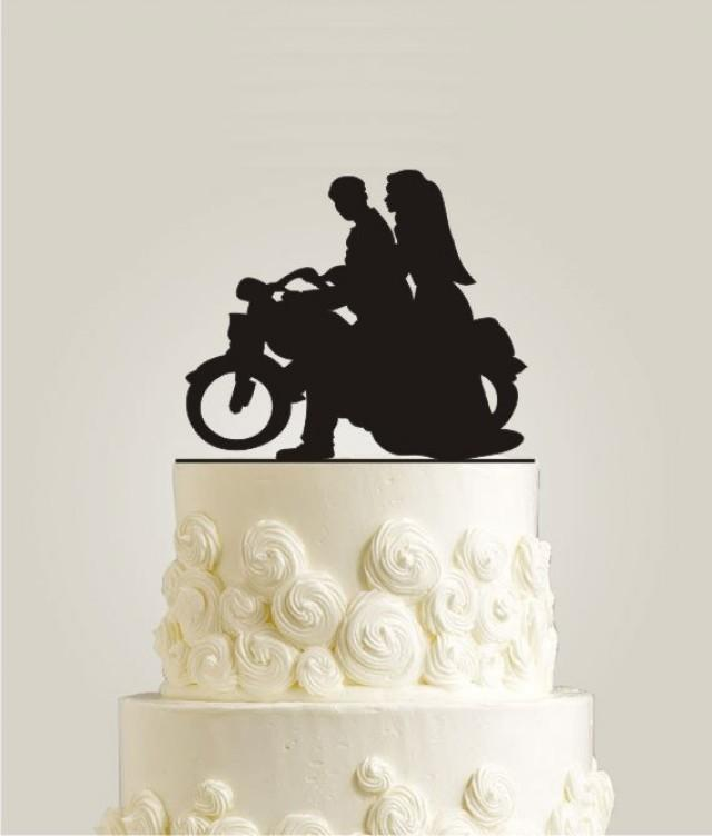 motorbike themed wedding cakes motorcycle cake topper rustic cake topper wood cake 17596