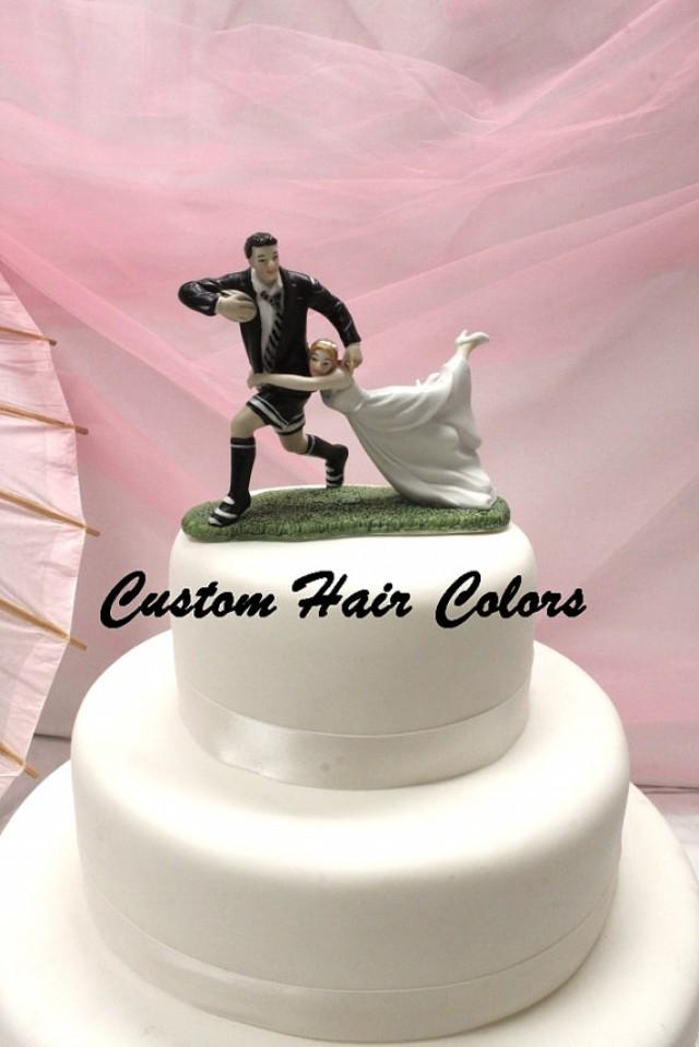 rugby couple wedding cake topper wedding cake topper and groom wedding cake topper 19463
