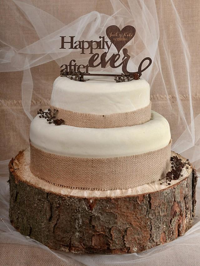 wooden rustic country wedding cake topper rustic cake topper wood cake topper happily after 27594