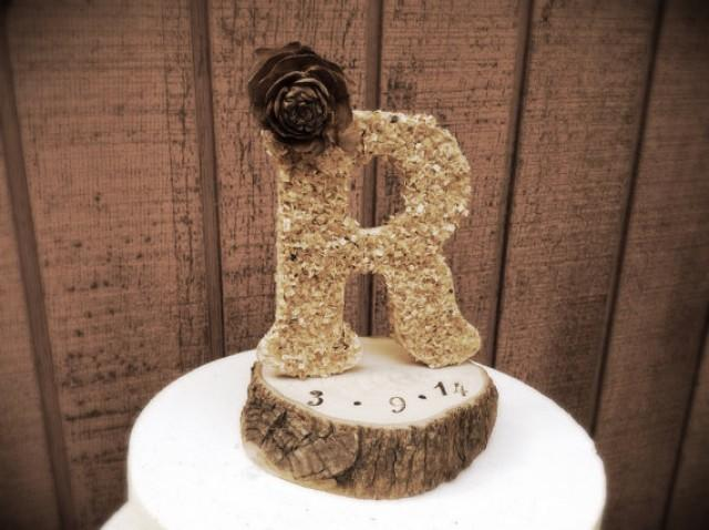 rustic fall wedding cake topper rustic wedding cake topper wooden letter country fall 19501