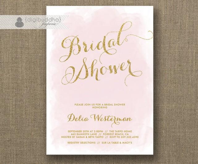 pink and gold wedding invitations blush pink amp gold glitter bridal shower invitation 6559