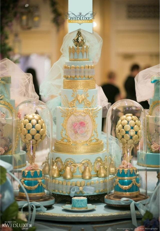 light blue and gold wedding cake cake light blue and gold 2330999 weddbook 16846