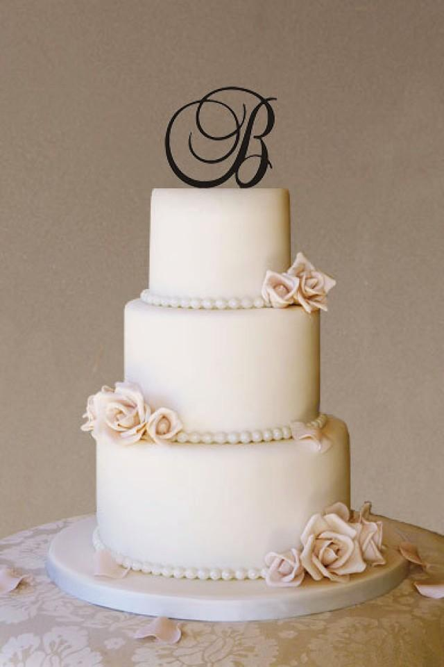 wedding cakes with initials on top custom wedding cake topper wedding cake topper monogram 26046