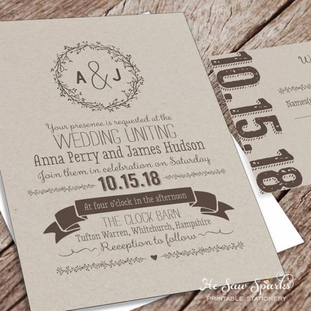 wedding invitations packages printable wedding invitation package kraft 2346468 9763