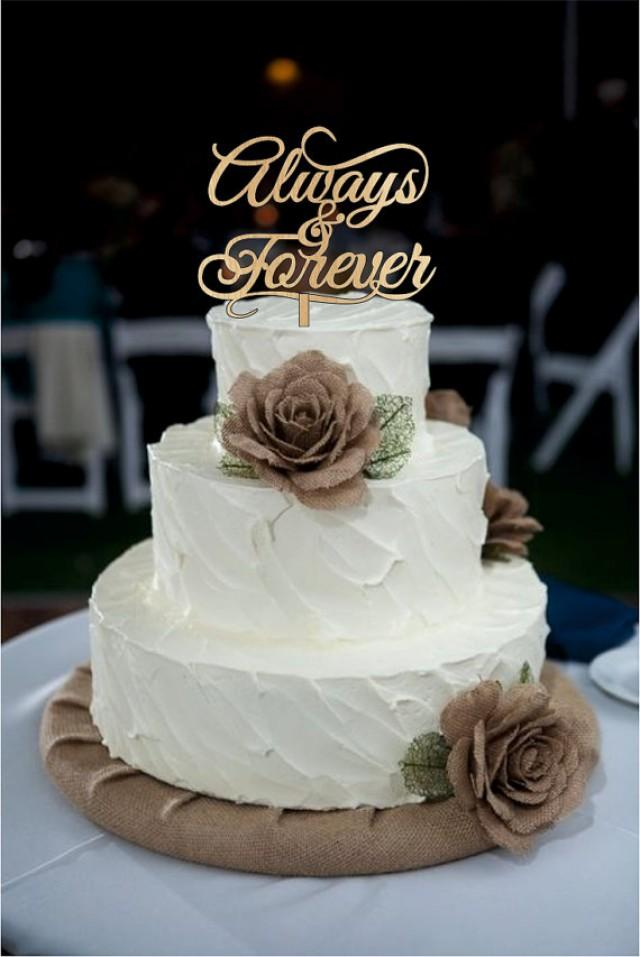 wooden rustic country wedding cake topper always and forever wedding cake toppers wood or 27594