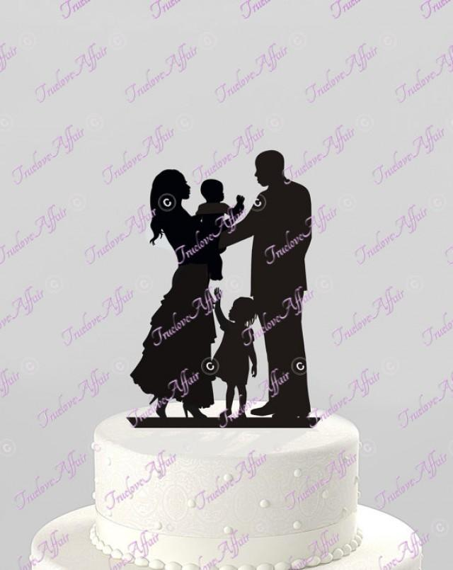 family silhouette wedding cake toppers wedding cake topper silhouette ethnic family holding baby 14183