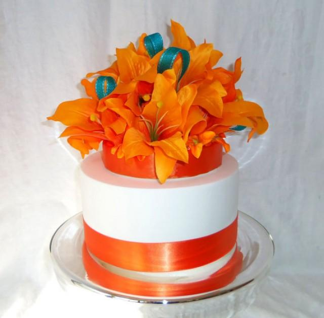 wedding cake silk flowers decorations wedding cake topper silk flowers tiger cake topper 24546