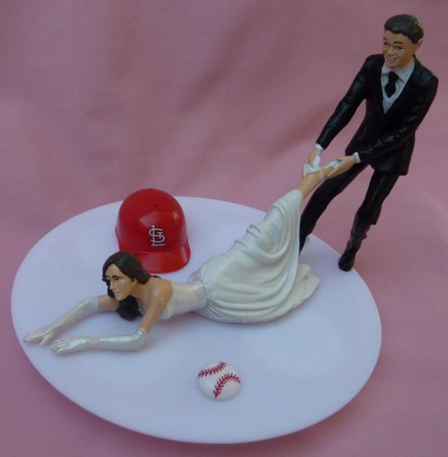 baseball themed wedding cake toppers wedding cake topper st louis cardinals cards g 1508