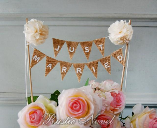 wedding cake bunting topper wedding cake topper rustic burlap cake bunting 22127
