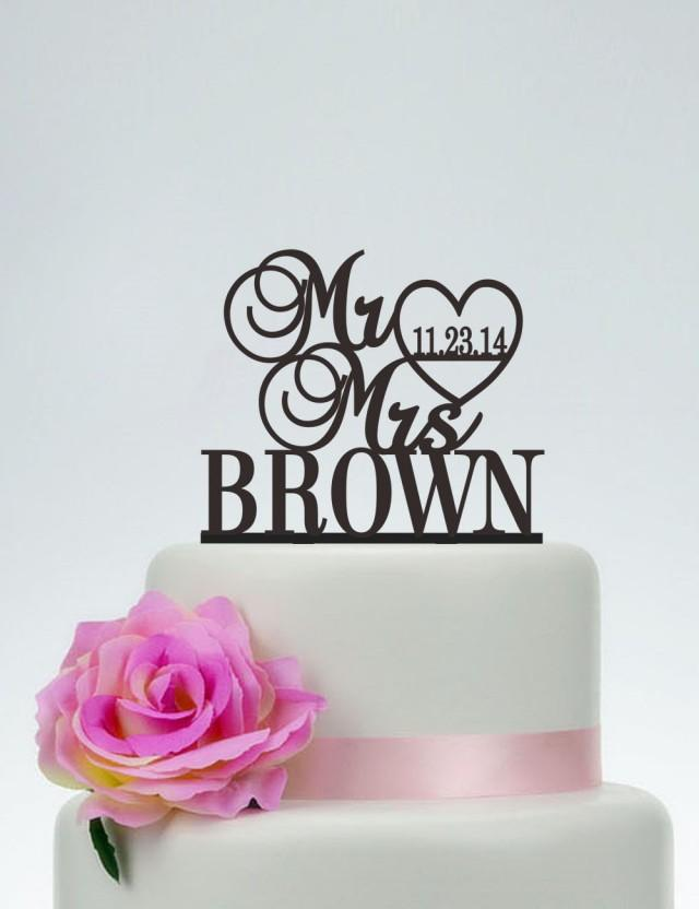 custom last name wedding cake toppers wedding cake topper mr and mrs cake topper with last name 13213