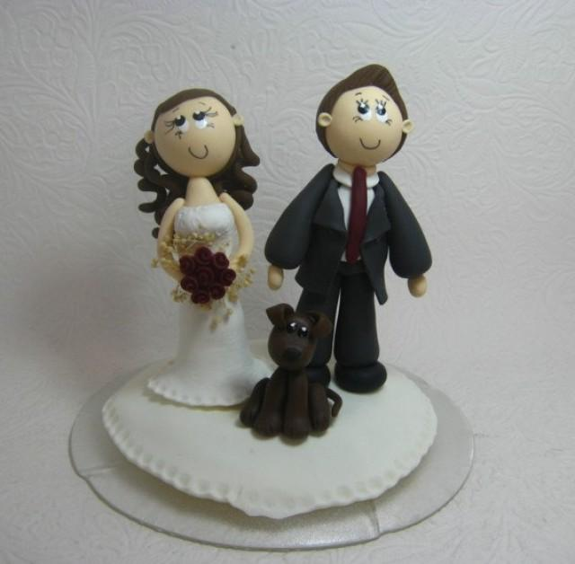 personalized wedding cake topper with dog wedding cake topper custom wedding cake topper with 18289