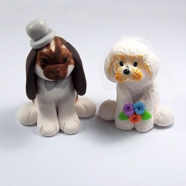 personalized wedding cake toppers figurines wedding cake topper bunny figurine bichon frise 6488