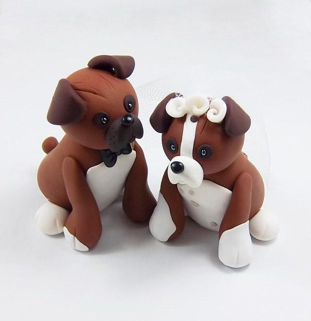 dog cake toppers boxer cake topper wedding cake topper pet cake 3643
