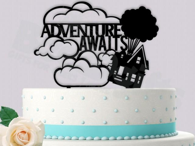 disney themed wedding cake toppers disney up inspired cake topper adventure awaits 2448315 13573