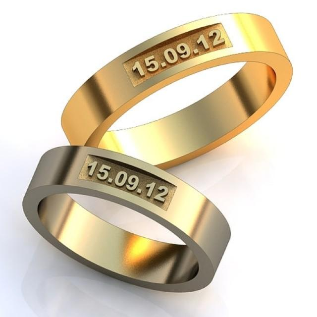 wedding date rings unique design bands set - Ring Design Ideas