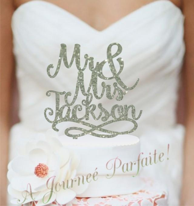 personalized last name wedding cake toppers script mr and mrs last name wedding cake topper 18266