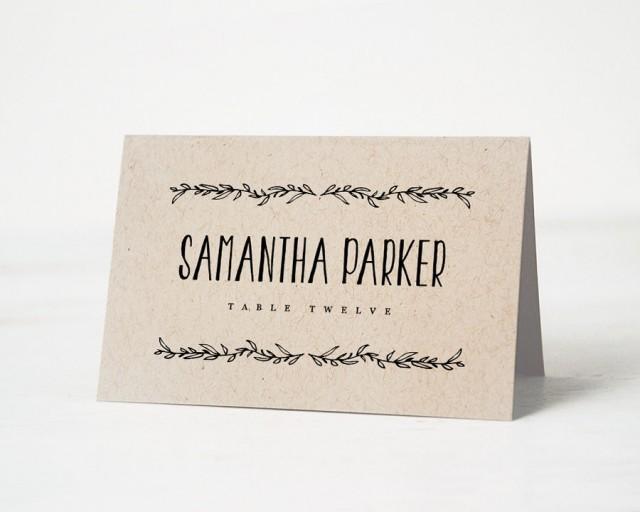 Printable Place Card Template Wedding Cards Editable Artwork Color Name Tags Rustic 2462635 Weddbook
