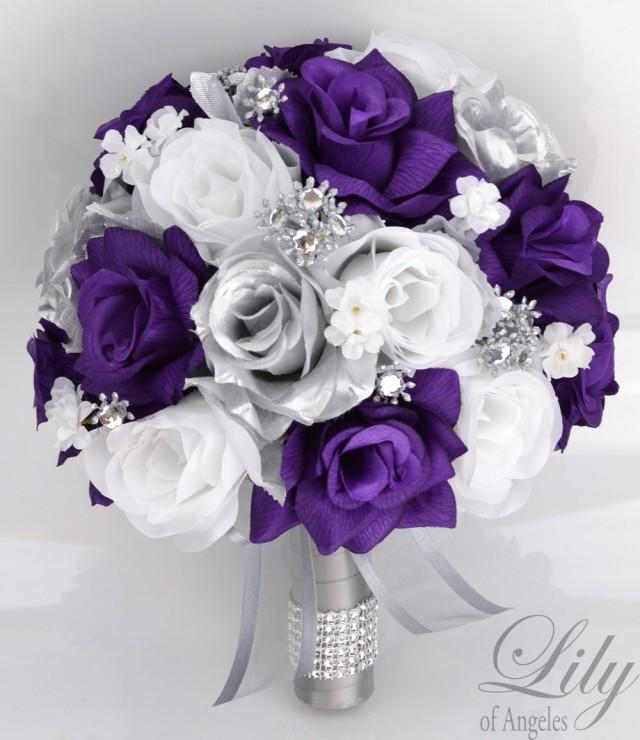 silk flower wedding bouquet packages 17 package bridal bouquet wedding bouquets silk 7390